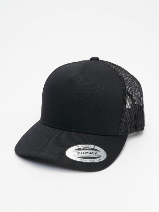 Flexfit Trucker Cap Retro schwarz