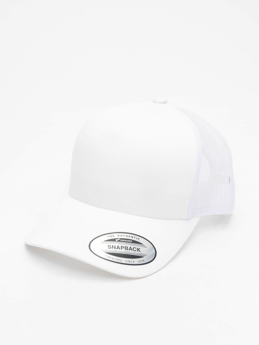 Flexfit Trucker Caps Retro bialy