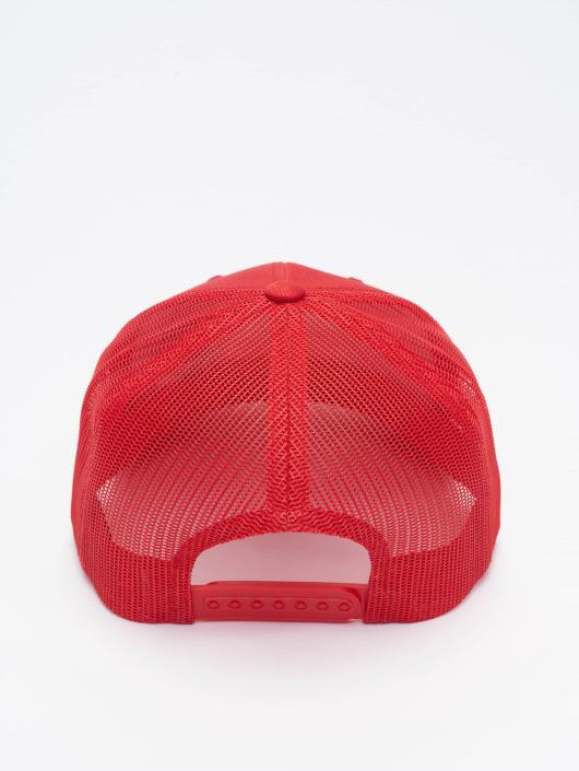 Flexfit Trucker Caps Retro czerwony