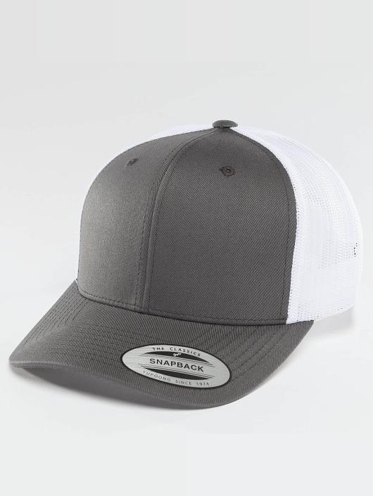 Flexfit Trucker Caps Retro grå