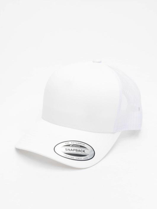 Flexfit Trucker Caps Retro hvit