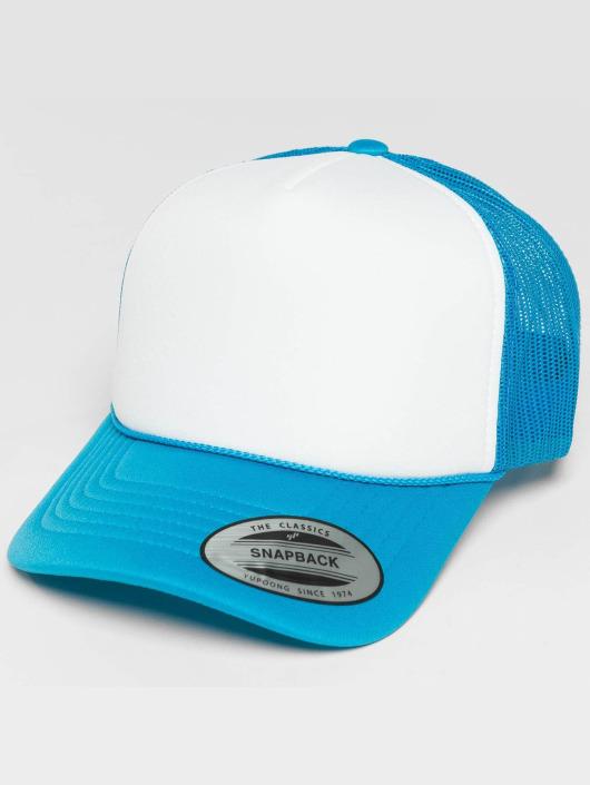 Flexfit Trucker Caps Curved Visor Foam niebieski