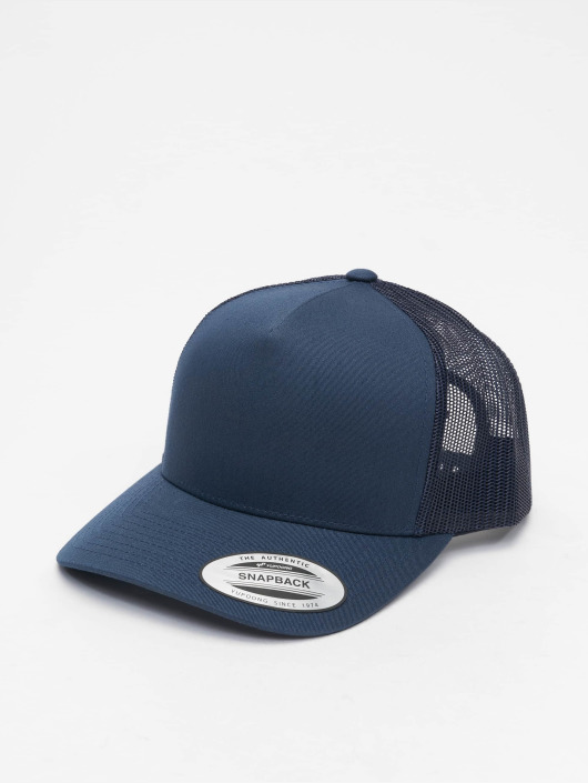 Flexfit Trucker Caps Retro niebieski