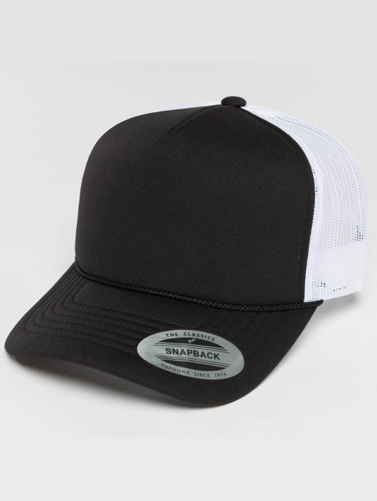 Flexfit Trucker Caps Curved Visor Foam svart