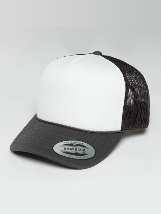 Flexfit Trucker Caps Curved Visor Foam szary