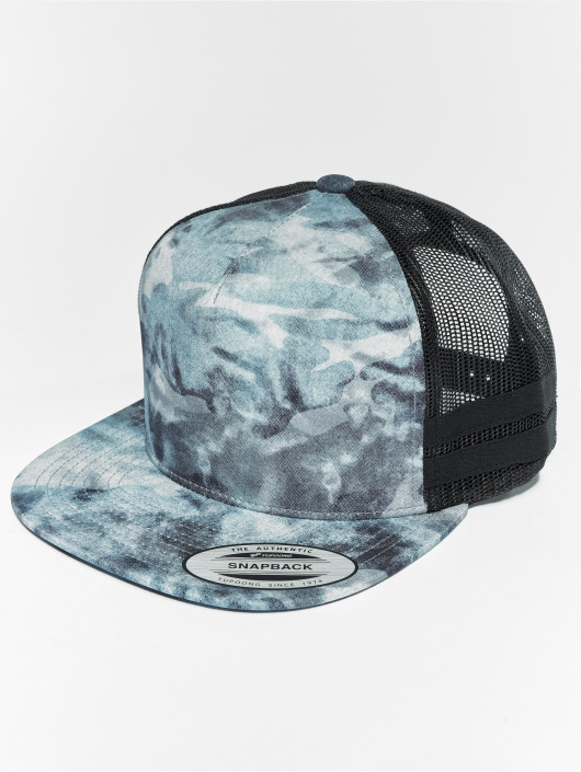 Flexfit Trucker Used Camo modrá