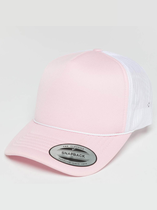 Flexfit Truckerkeps Curved Visor Foam rosa