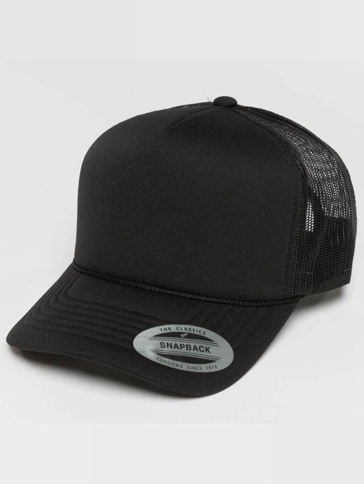 Flexfit Verkkolippikset Curved Visor Foam musta