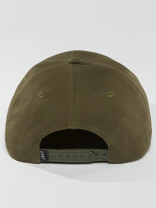 Grimey Wear Snapback Cap Overcome Gravity olive