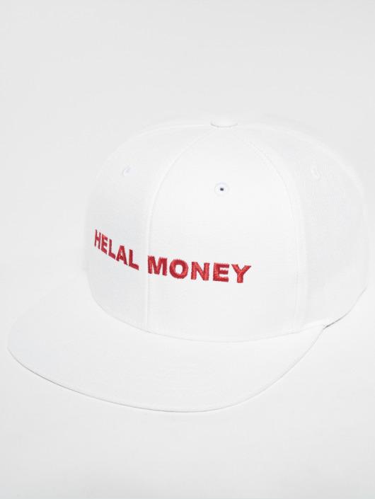 Helal Money Snapback Caps LOGO bialy