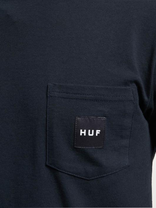 HUF T-Shirt Box Logo Pocket blue