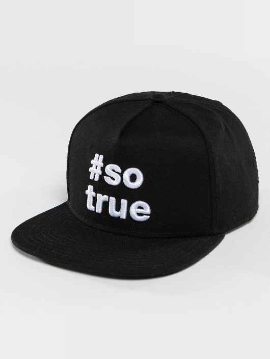 Just Rhyse Snapback Cap Being True black
