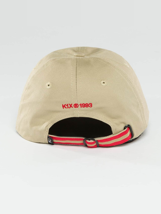 K1X Snapback Cap Play Hard Basketball Sports khaki