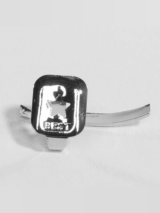 KING ICE Autres Rhodium_Plated Cross Single Tooth Cap Top argent