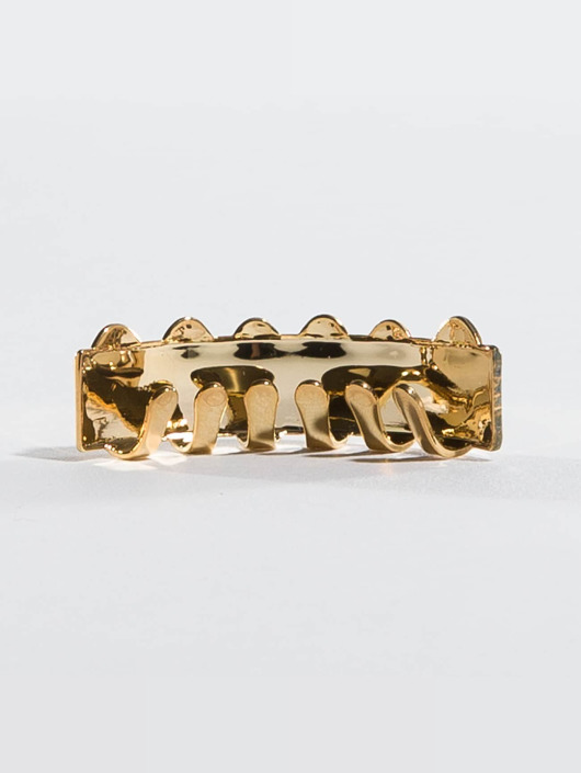KING ICE Pozostałe Gold_Plated Flat Finished Bottom zloty