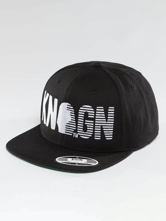 Kingin Snapback Caps Logo musta