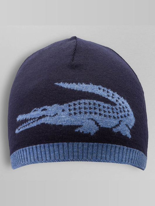 Lacoste Beanie Jacquard Jersey blauw