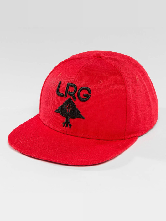 LRG Snapback Caps Research Group punainen