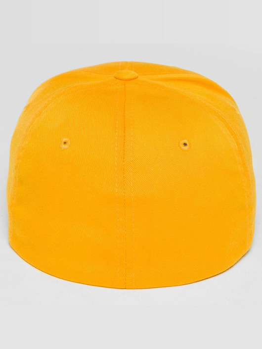 Merchcode Casquette Flex Fitted Flash Comic jaune