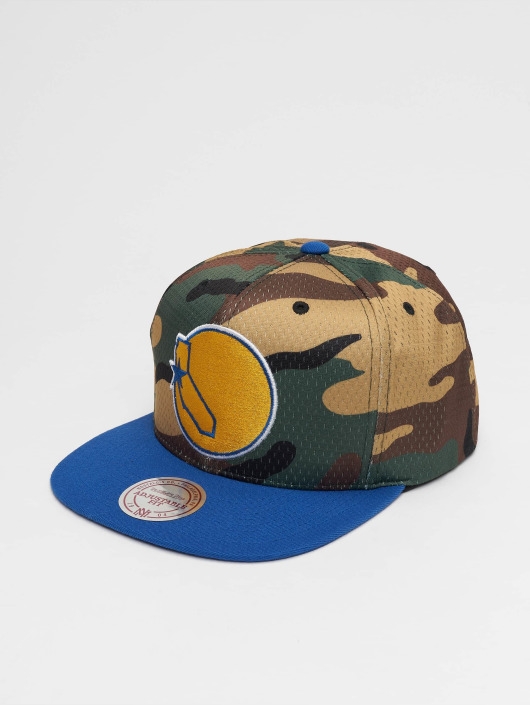 Mitchell & Ness Кепка с застёжкой Woodland Golden State Warriors Cover камуфляж
