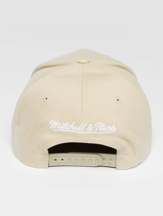 Mitchell & Ness Casquette Snapback & Strapback Blank Flat Peak 110 Curved beige