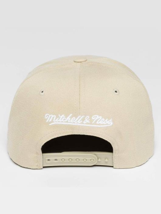 Mitchell & Ness Casquette Snapback & Strapback Blank Flat Peak beige