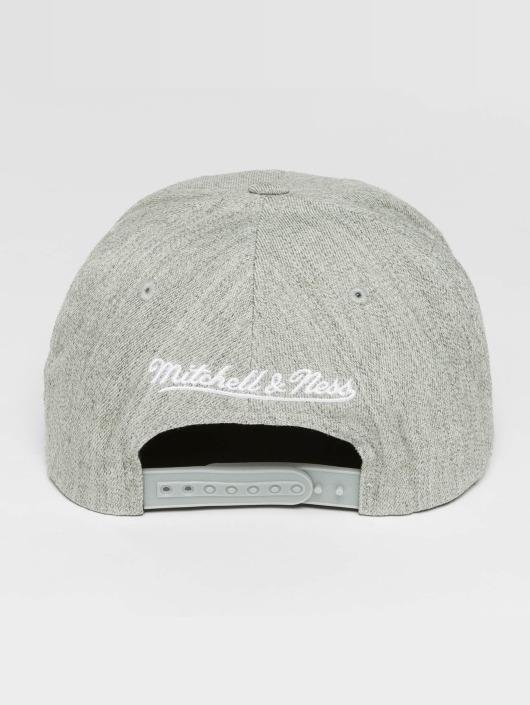 Mitchell & Ness Casquette Snapback & Strapback Blank Flat Peak gris