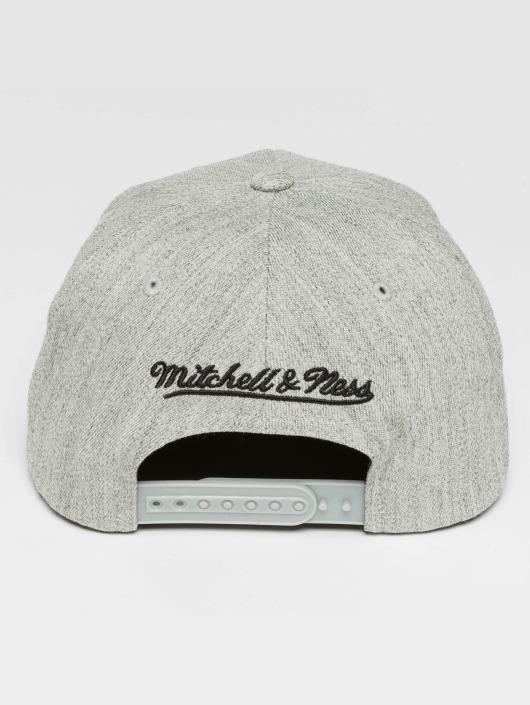 Mitchell & Ness Casquette Snapback & Strapback Blank Flat Peak 110 gris
