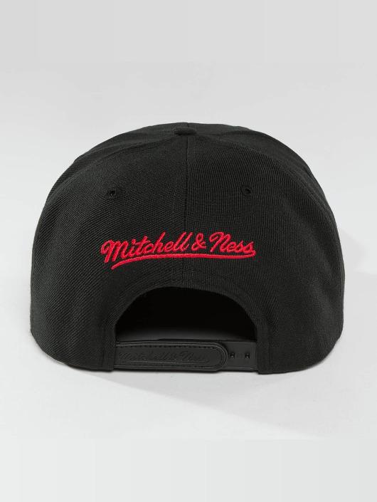 Mitchell & Ness Gorra Snapback Red Pop Interlocked negro