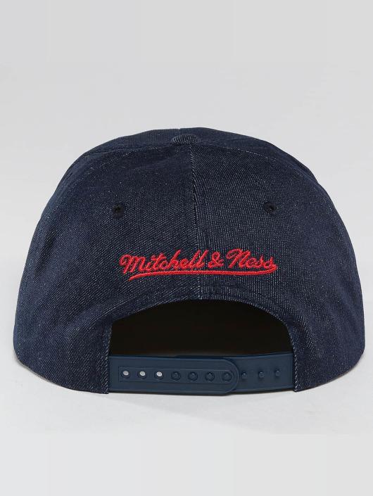 Mitchell & Ness Snapback Cap Raw Denim 3 Tone PU Chicago Bulls blue