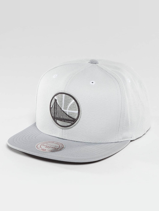 Mitchell & Ness Snapback Cap Grey 2 Tone Plus Series Golden State Warriors grau