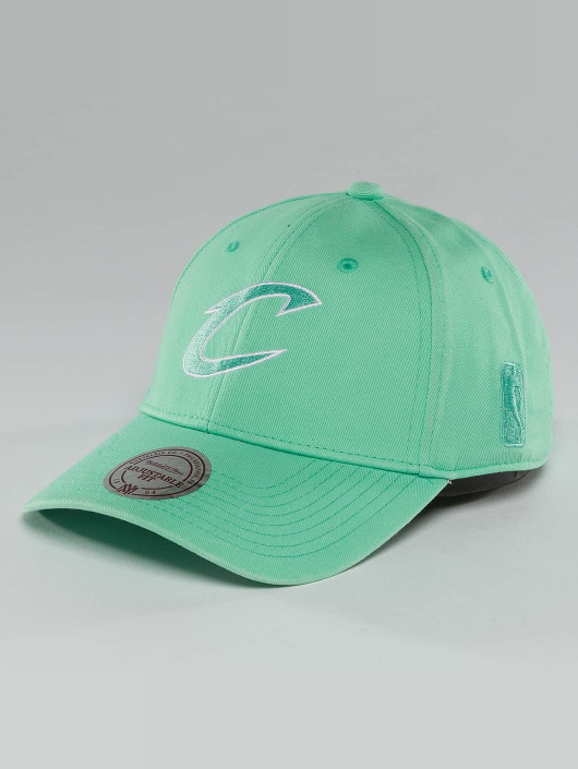 Mitchell & Ness Snapback Cap NBA Pastel 2-Tone Logo Cleveland Cavaliers green