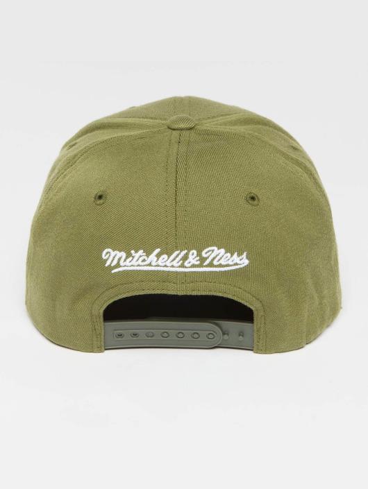 Mitchell & Ness snapback cap Own Brand Pinscript High Crown 110 olijfgroen