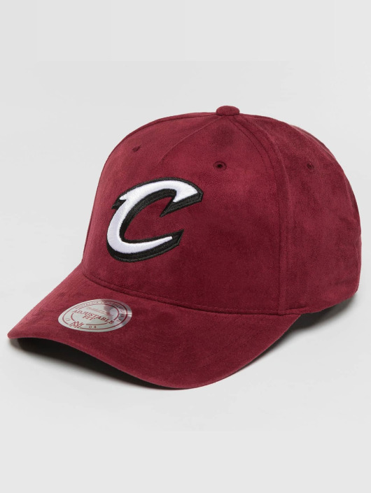 Mitchell & Ness snapback cap 110 Curved NBA Cleveland Cavaliers Suede rood