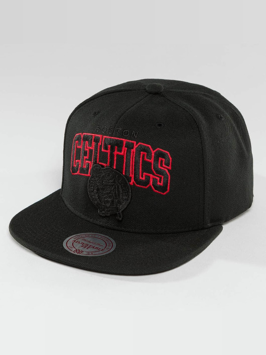 Mitchell & Ness Snapback Cap Red Pop Boston Celtics schwarz