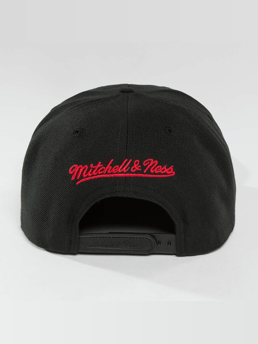 Mitchell & Ness snapback cap Red Pop Interlocked zwart