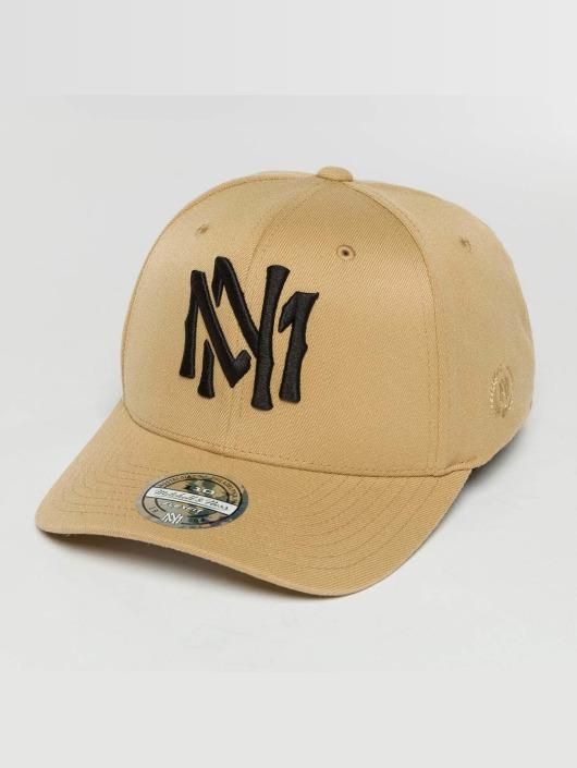 Mitchell & Ness Snapback Caps The Sand And Black 2-Tone Interlocked béžový