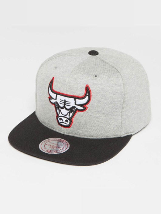 Mitchell & Ness Snapback Caps The 3-Tone NBA Chicago Bulls grå