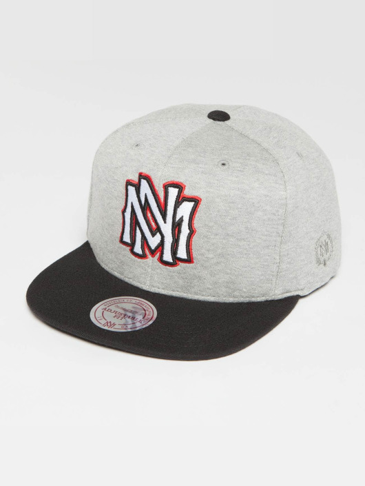 Mitchell & Ness Snapback Caps The 3-Tone grå