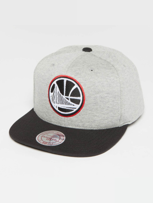 Mitchell & Ness Snapback Caps The 3-Tone NBA Golden State Warriors harmaa