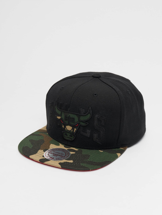 Mitchell & Ness Snapback Caps Woodland Chicago Bulls Blind svart