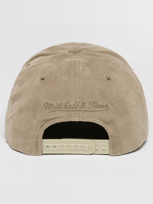 Mitchell & Ness Snapback Caps 110 Curved NBA Chicago Bulls Suede szary