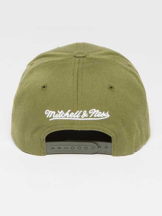Mitchell & Ness Snapback Own Brand Pinscript High Crown 110 olivová