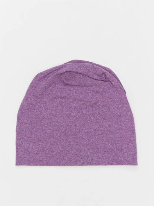 MSTRDS Beanie Heather Jersey paars