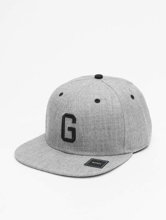 MSTRDS Snapback Caps G Letter šedá