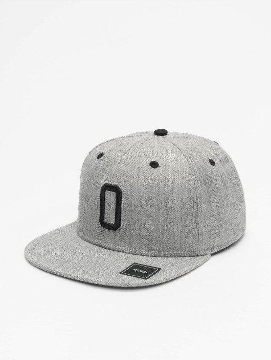 MSTRDS Snapback Caps O Letter šedá