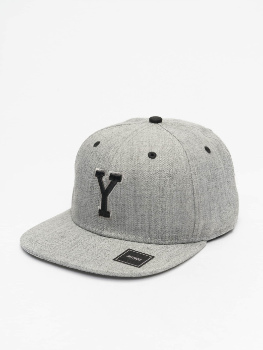 MSTRDS Snapback Caps Y Letter harmaa