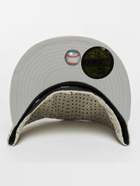New Era Casquette Fitted Suede Perf NY Yankees 59Fifty gris