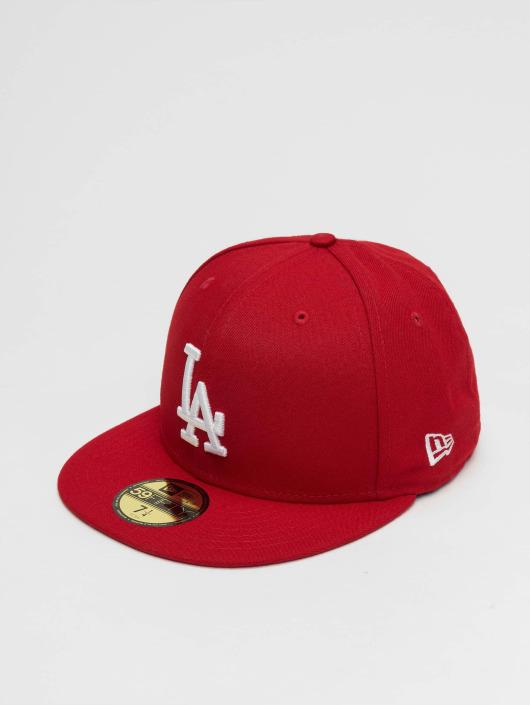 New Era Fitted Cap MLB Basic LA Dodgers 59Fifty èervená
