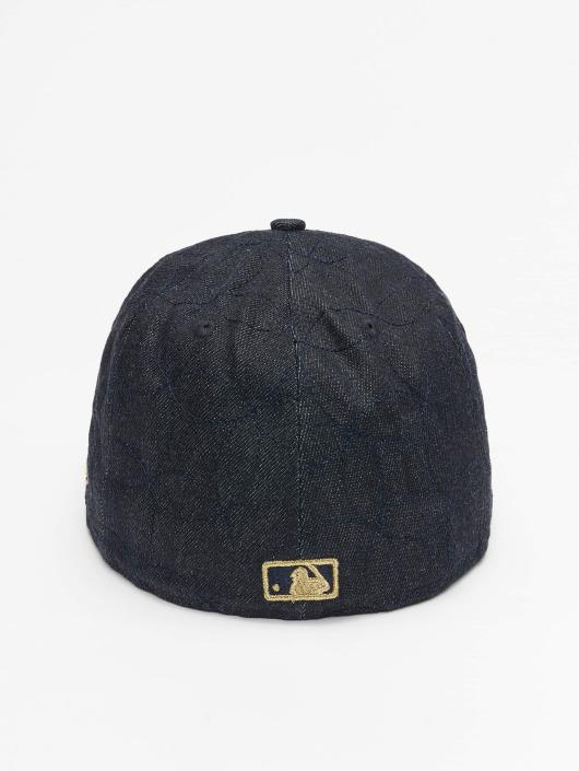 New Era Fitted Cap Denim Quilt LA Dodgers blau
